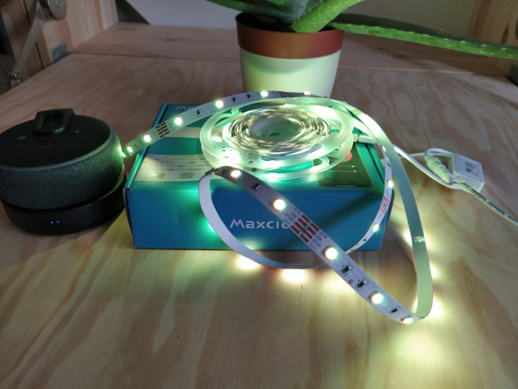 Maxcio LED Strip eingeschaltet