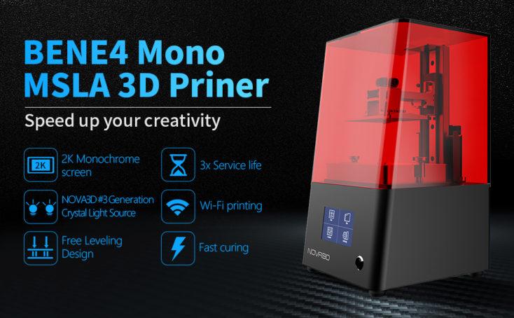 NOVA3D Bene4 Mono Drucker Specs