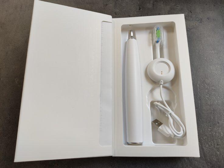 Oclean Air 2 smarte elektrische Zahnbürste Lieferumfang