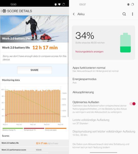 OnePlus 8T Akku Test