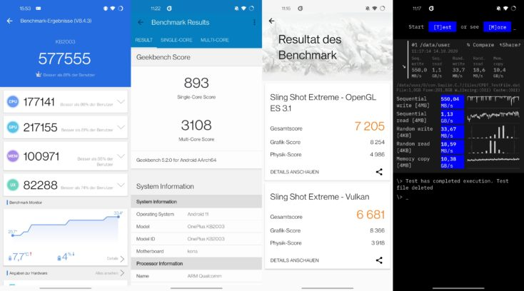 OnePlus 8T Benchmarks