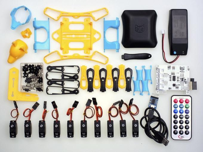 Petoi Brittle Roboter Einzelteile