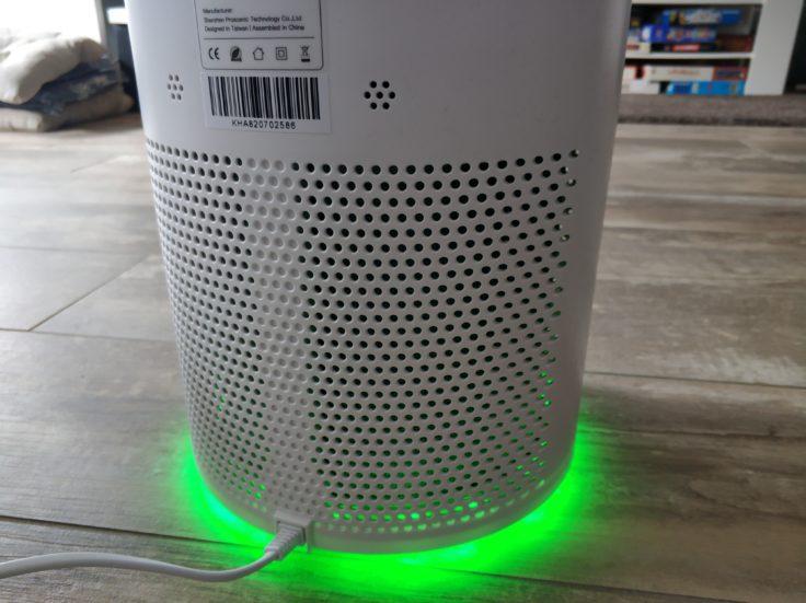 Proscenic A8 Luftreiniger Filter Rueckseite