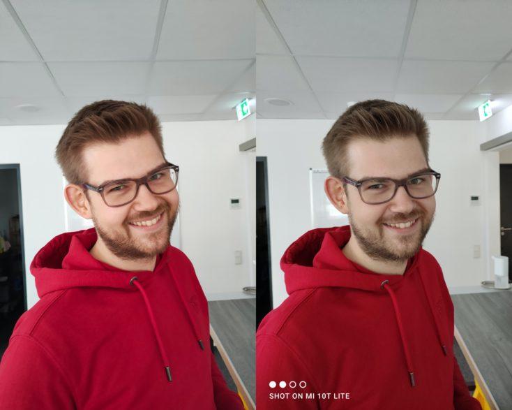 Realme 7 Pro Hauptkamera Vergleich Mi 10T Lite Person