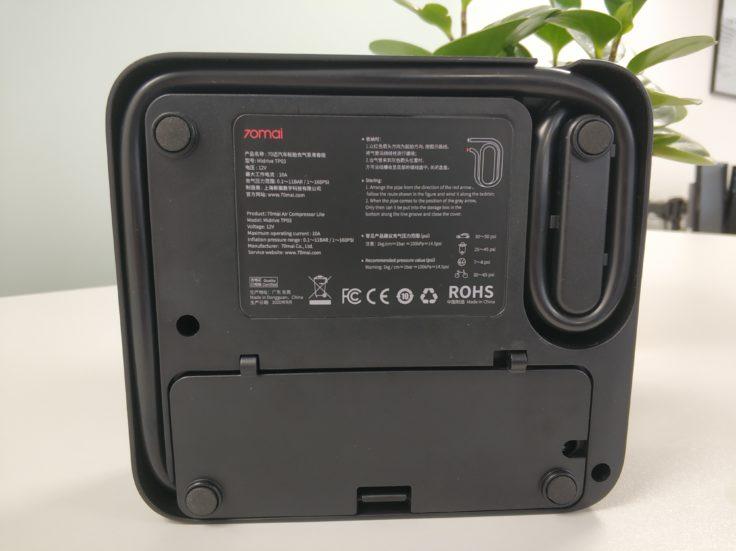 Xiaomi 70Mai elektrische Luftpumpe Kompressor Unterseite