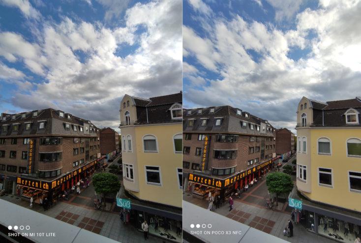 Xiaomi Mi 10T Lite Hauptkamera Testfoto vs POCO X3