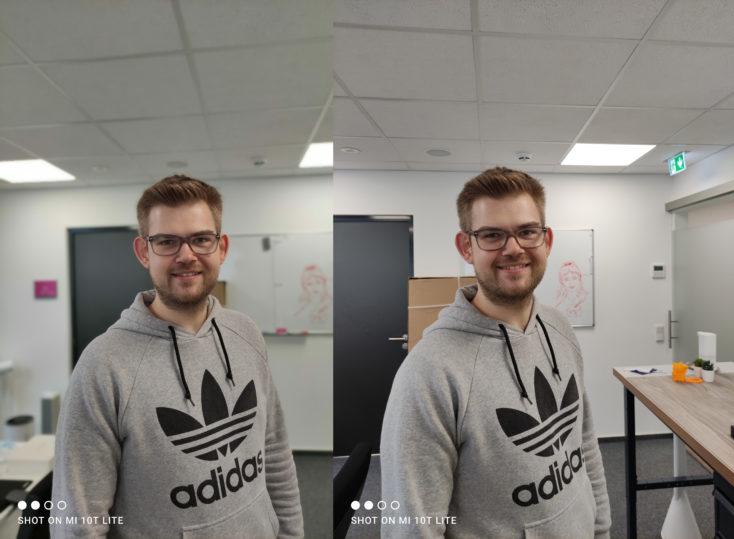 Xiaomi Mi 10T Lite Portraitmodus Vergleich