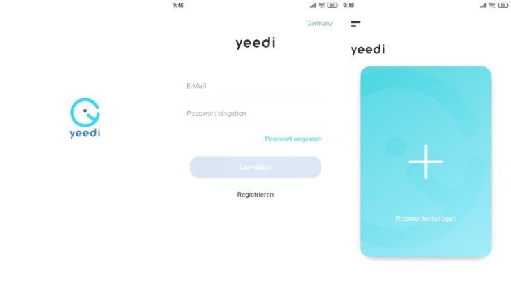 Yeedi K650 Saugroboter App Registrierung