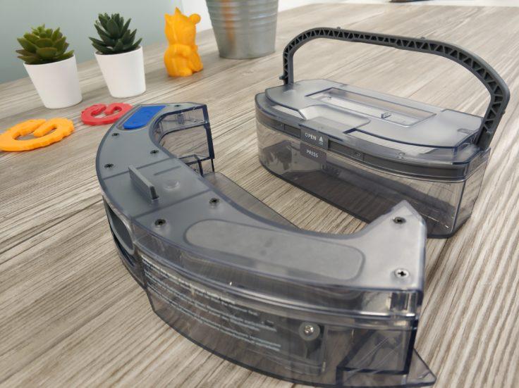 Yeedi K650 Saugroboter Staubkammer Wassertank auseinander