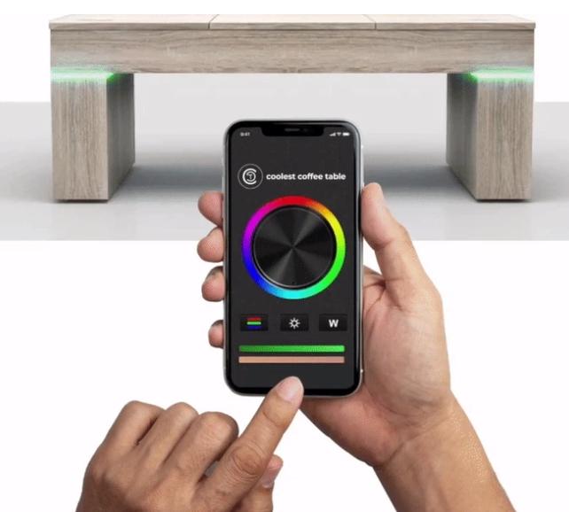 coolest table Leuchten LEDs App