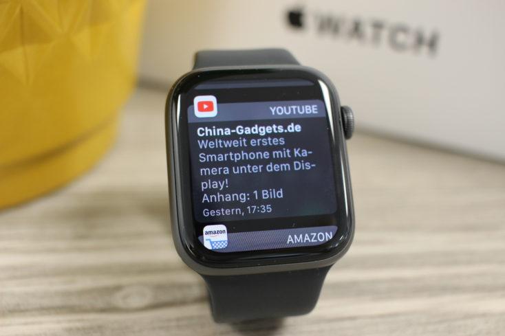 Apple Watch SE Benachrichtigungen YouTube