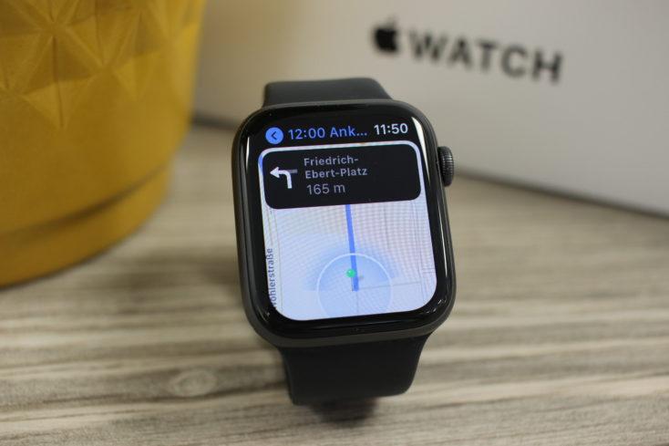 Apple Watch SE Watchface Navigation Karten