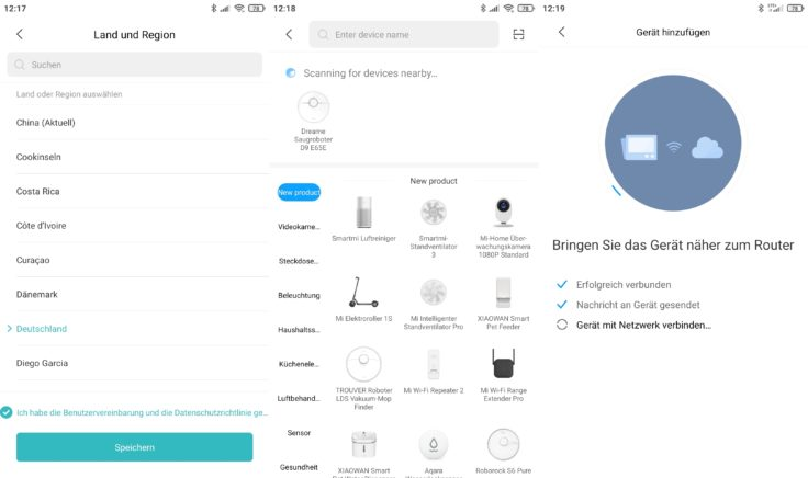 Dreame D9 Saugroboter Xiaomi Home App Einbindung WLAN
