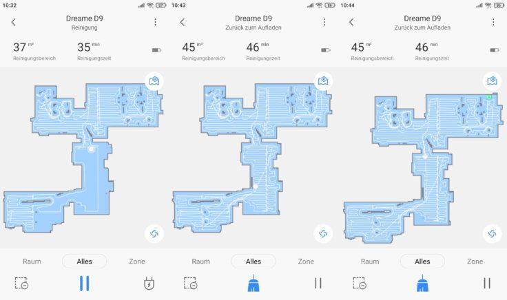 Dreame D9 Saugroboter Xiaomi Home App Mapping