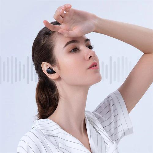 Haylou GT5 Kopfhoerer in den Ohren