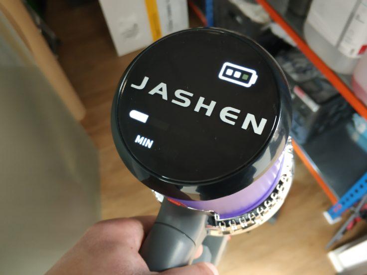 JASHEN V16 Akkustaubsauger Display Anzeige