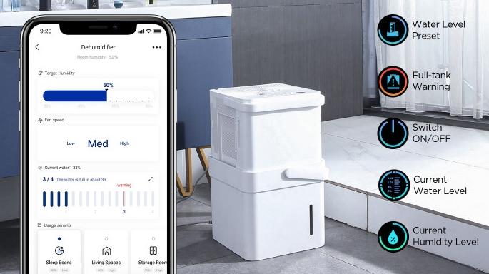 Midea Cube Luftentfeuchter App-Funktionen