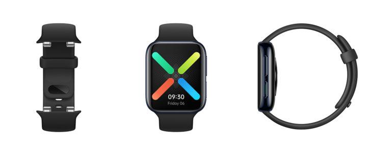OPPO Watch 46 mm LTE Smartwatch Design alle Seiten