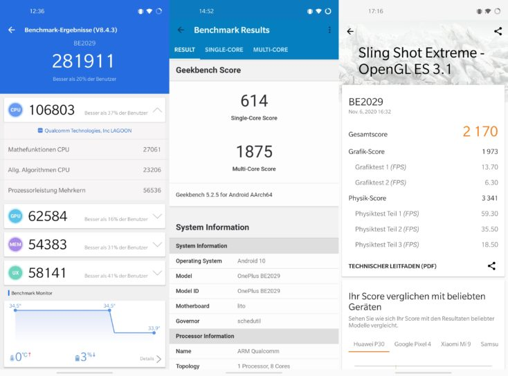 OnePlus Nord N10 Benchmarks