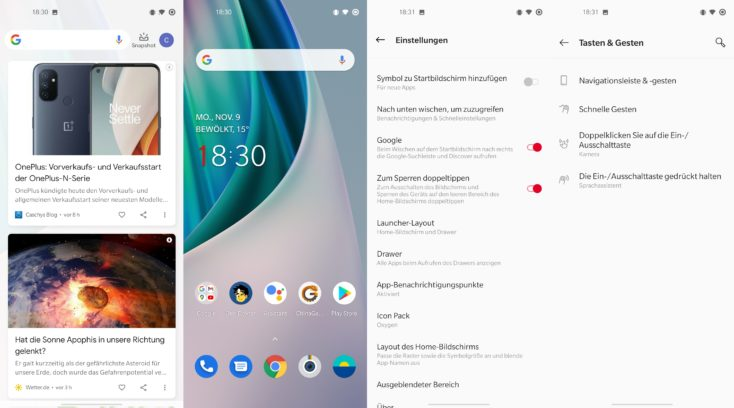 OnePlus Nord N10 Software
