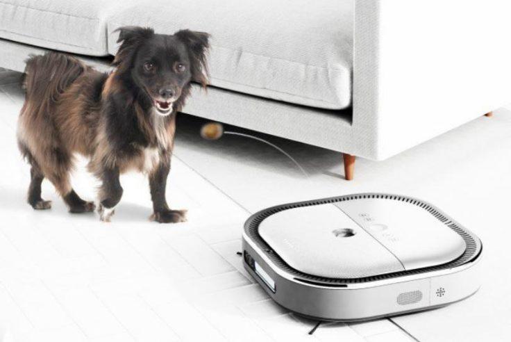 Puro Pet Saugroboter mit Hundefutter
