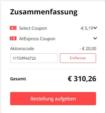 Roborock S5 Max AliExpress Bestellung Coupons Gutscheine