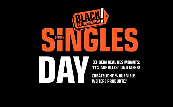 Singles Day Saturn Banner