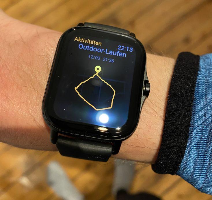 Amazfit GTS 2 Smartwatch Laufen