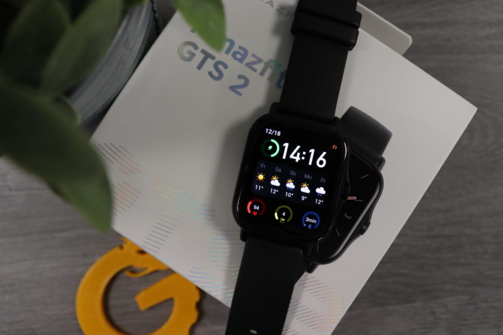 Amazfit GTS 2 Smartwatch von oben