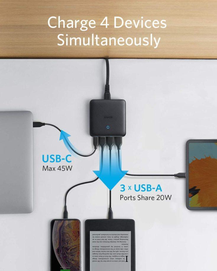 Anker PowerPort Atom III lädt vier Geräte gleichzeitig