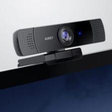 Aukey_1080p_Webcam_am_Bildschirm