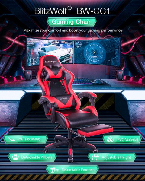 Blitzwolf Gaming Stuhl Features