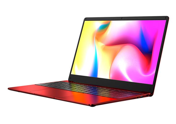 DERE R9 Pro Notebook von der Seite rot