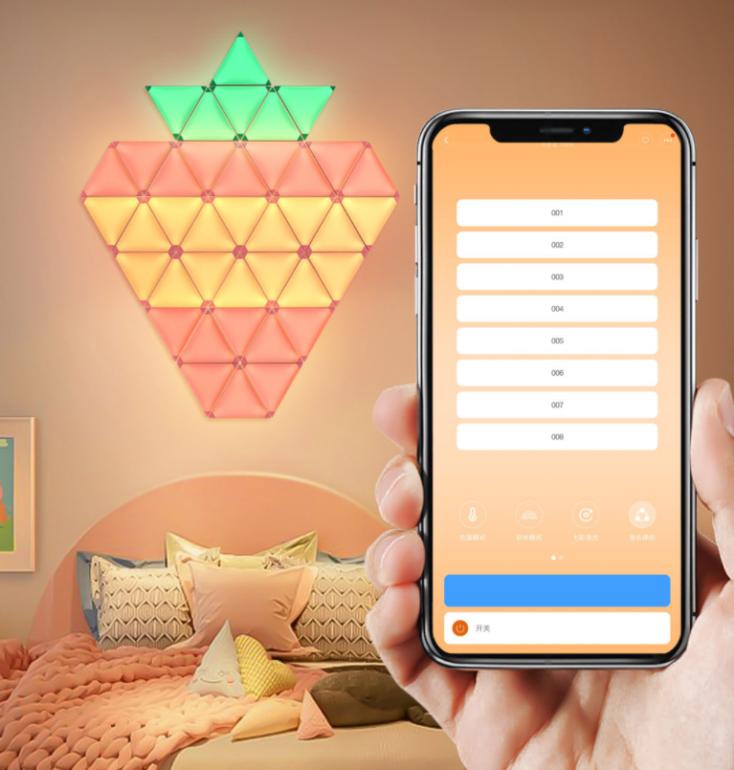 HUIZO Lichtpanel Erdbeere und App