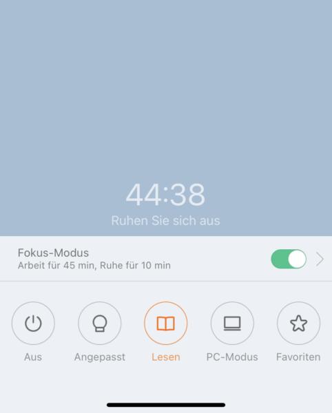 Xiaomi Tischlampe Fokus Modus