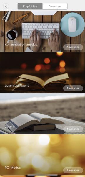 Xiaomi Tischlampe App Steuerung