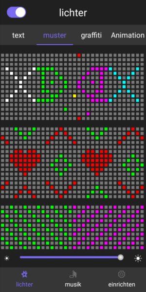 LED Maske App Muster