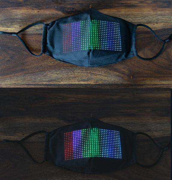 LED Maske Farbkontrast