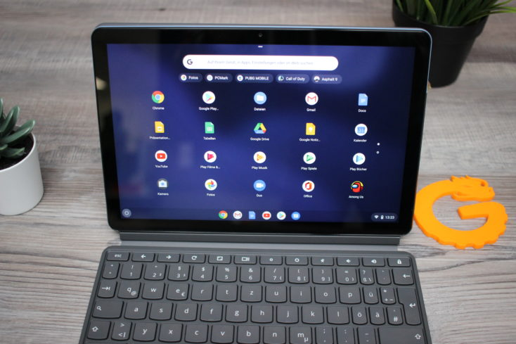 Lenovo IdeaPad Duet Chromebook Appdraw