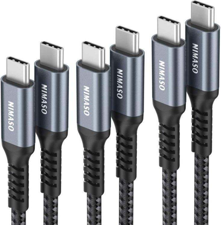 NIMASO USB C auf USB C Ladekabel Multipack