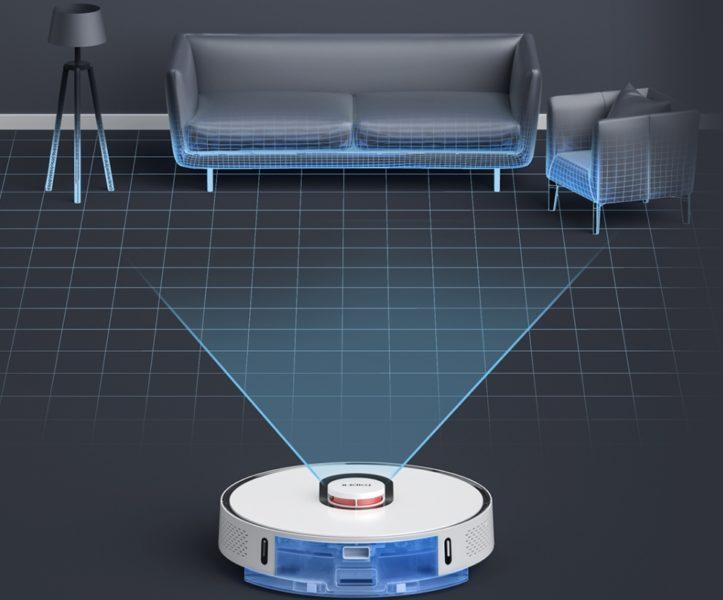 Roidmi EVE Plus Saugroboter Laser Raumvermessung Wischfunktion