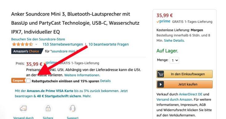 Soundcore Mini 3 Speaker Gutschein Amazon
