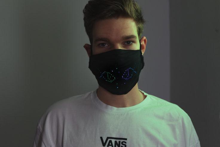 LED Maske Weihnachtsmotiv