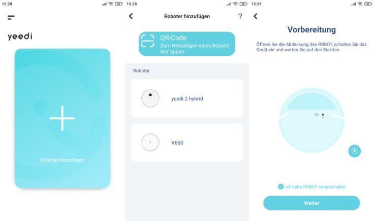Yeedi 2 Hybrid Saugroboter App Einbindung WLAN