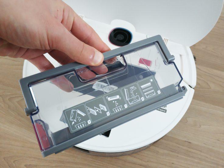 Yeedi 2 Hybrid Saugroboter Staubkammer