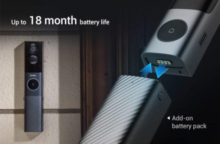 360 Video Doorbell X3 Akku
