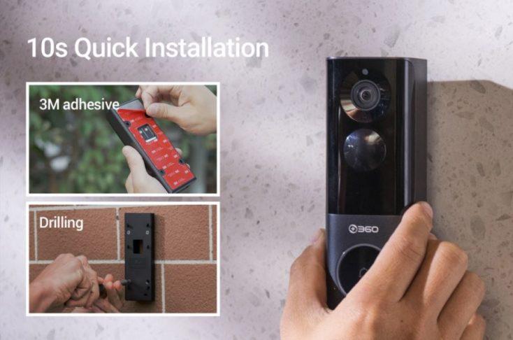 360 Video Doorbell X3 Installation