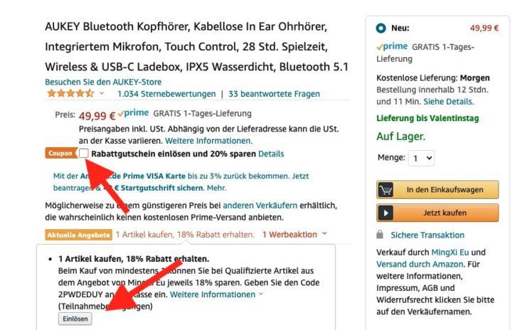 Aukey EP T10 Gutschein Amazon aktivieren Rabatt