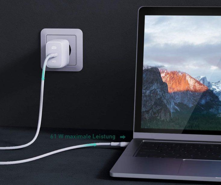 Aukey Omnia 61W USB C Ladegeraet Laden e1609766483568