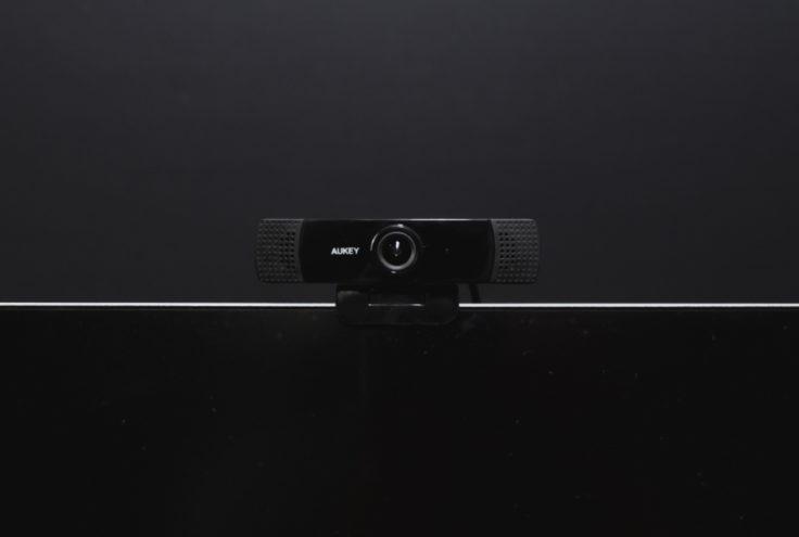 Aukey Webcam auf Bildschirm
